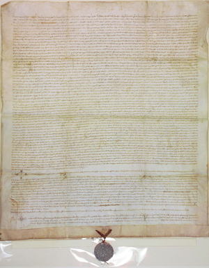 Minutes of the General Court of Catalonia held in 1359 in Cervera, where Berenguer de Cruïlles was elected as the first President of the Generalitat de Catalunya (19 December 1359)