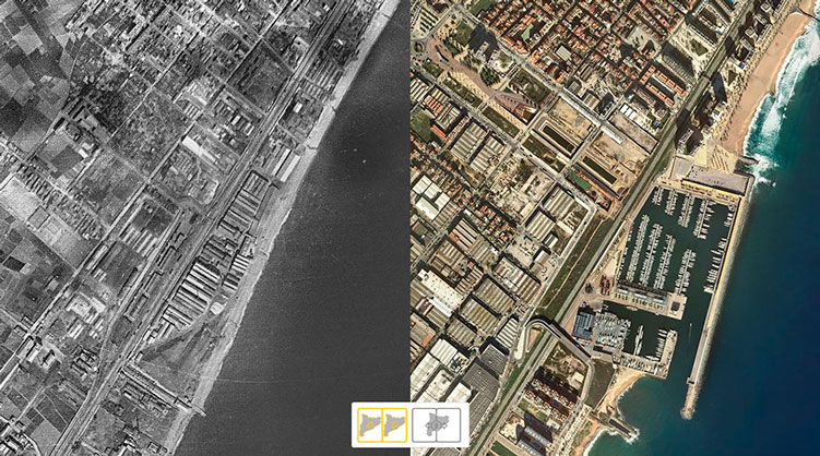 Comparison between two points on the Catalan coast